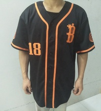 Yishengfu factory made custom baseball jersey borduren, hoge kwaliteit baseball jersey, tackle <span class=keywords><strong>twill</strong></span> baseball jersey