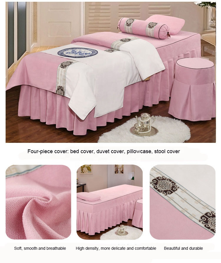 2019 new beauty salon bed sets massage bedding sets spa facial bed cover