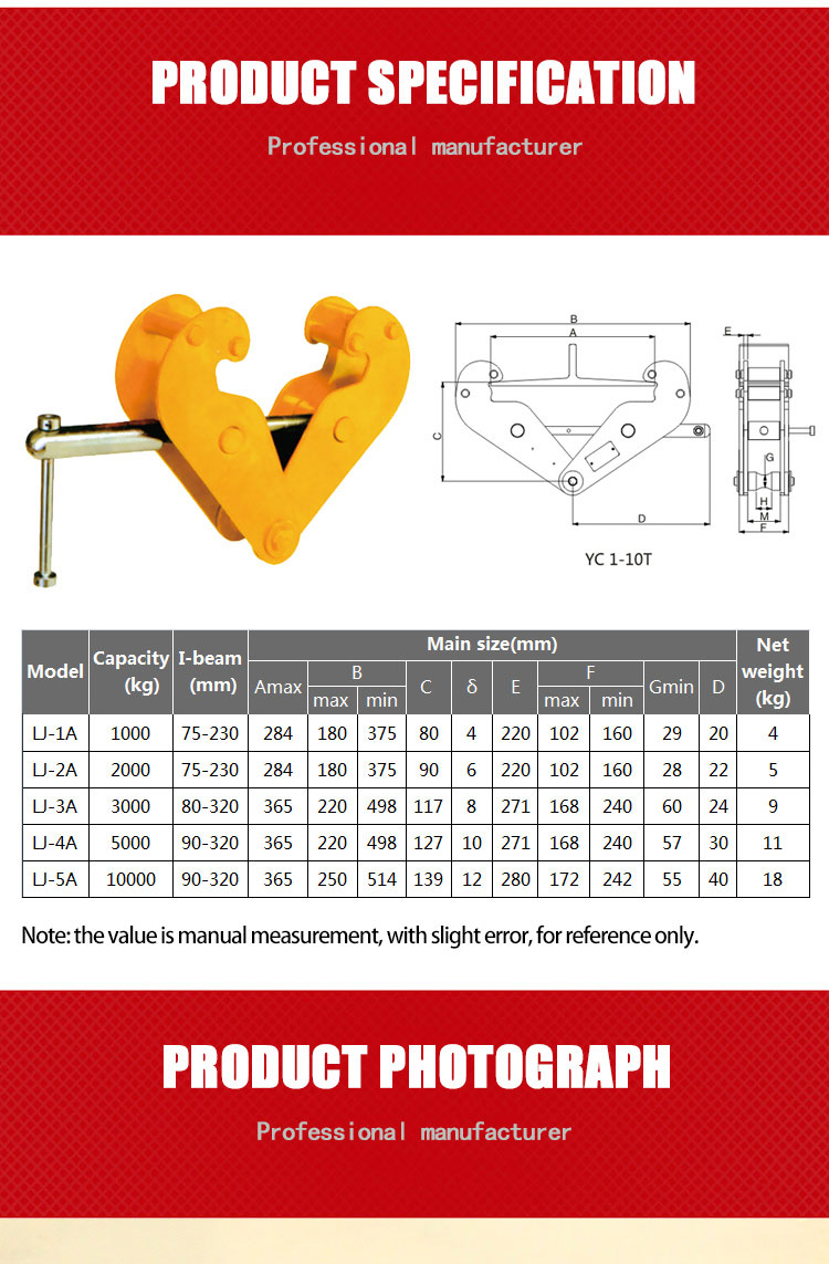 model wide mouth beam clamp with great price