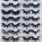 False Eyelashes 25mm Mink Eyelash Wholesale False 3D 5D 6D 25mm Mink Eyelashes Manufacturer Private Label Real Siberian Dramatic Mink Lashes With Custom Box