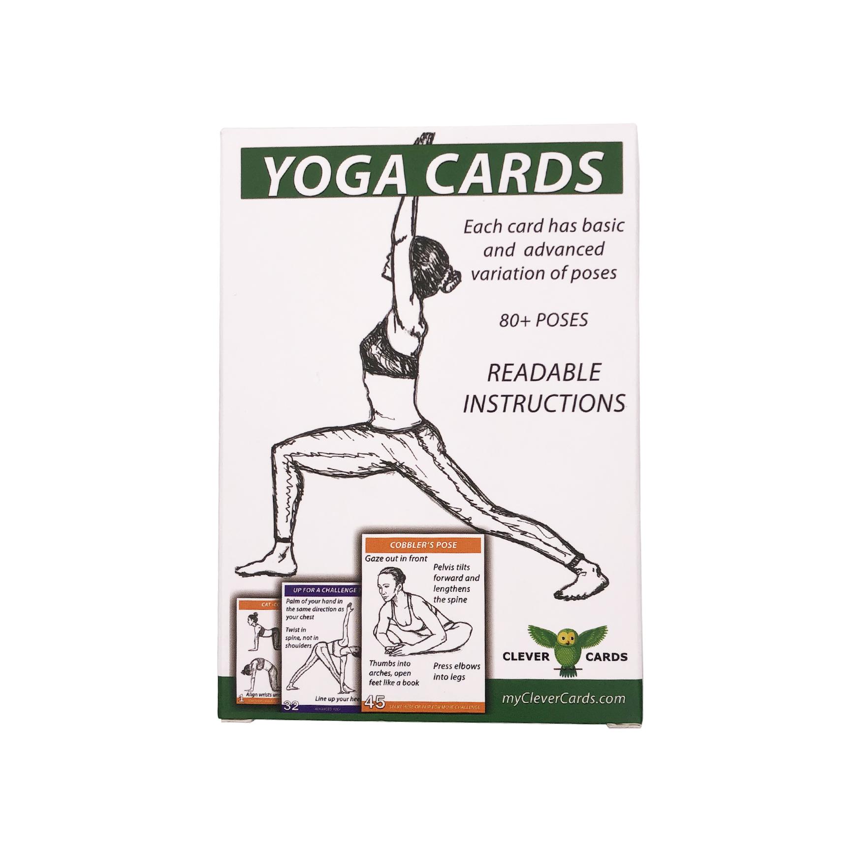 بطاقات يوجا بلاستيكية مطبوعة مخصصة للمبتدئين أو المتقدمة يوغي