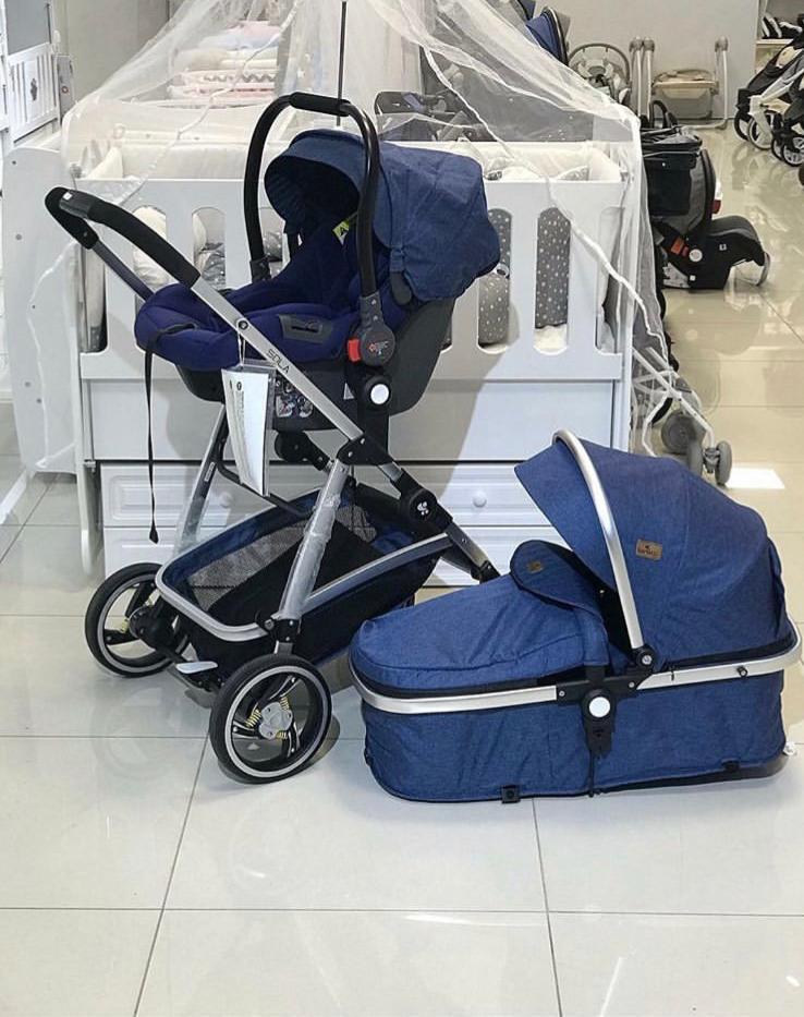 Kursi Dorong 3 In 1 Anak Laki-laki Kereta Bayi Kereta Dorong 1 Buah Kereta Dorong Bayi