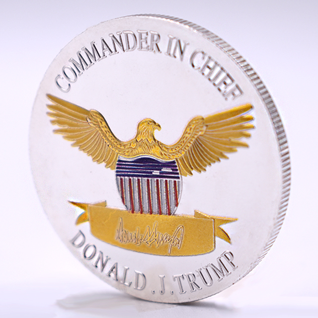 High Quality America Unit State President Silver Gold Plated Donald trump 2020 collectible coin