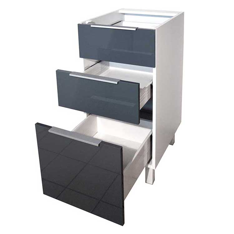Gray glossy Furniture full free standing Sink flat pack Fitted Fireproof Exclusive Economical design kitchen cabinet
