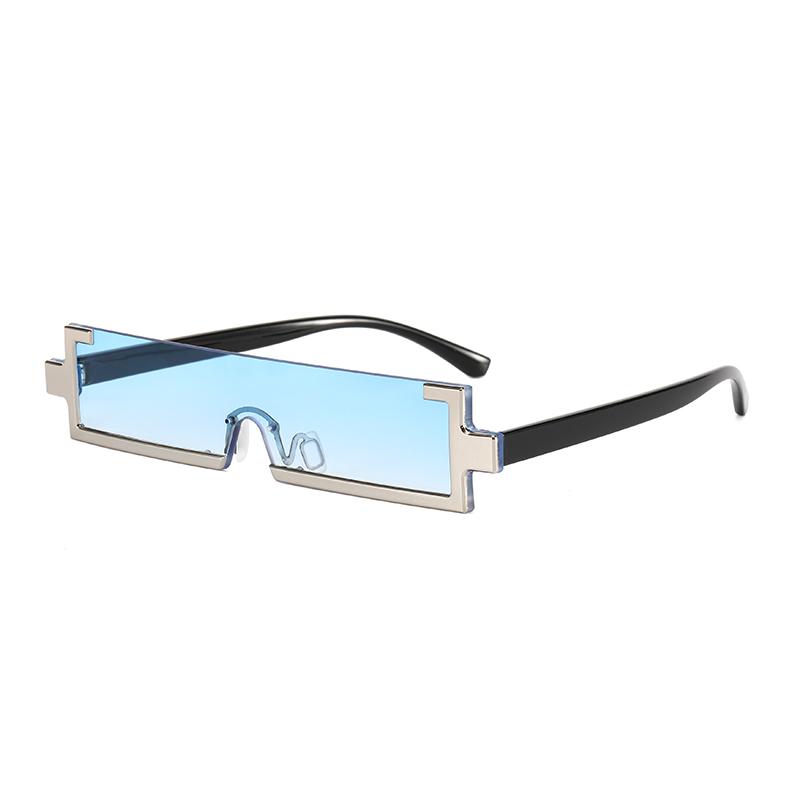 Superhot Eyewear 17645 Fashion Plastic Rectangle 2021 See Through Lens Half Frame Sunglasses