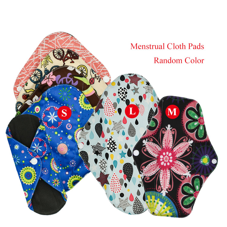 Napkin Sanitary Pad Replace Menstrual Cup Bamboo Menstrual Cloth Pads Washable with L M S three kinds size