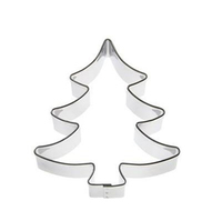 Christmas tree shape SS430 cookie cutter set
