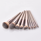 2019 trending product beauty needs private label wood makeup brush set With Aluminum Ferrule