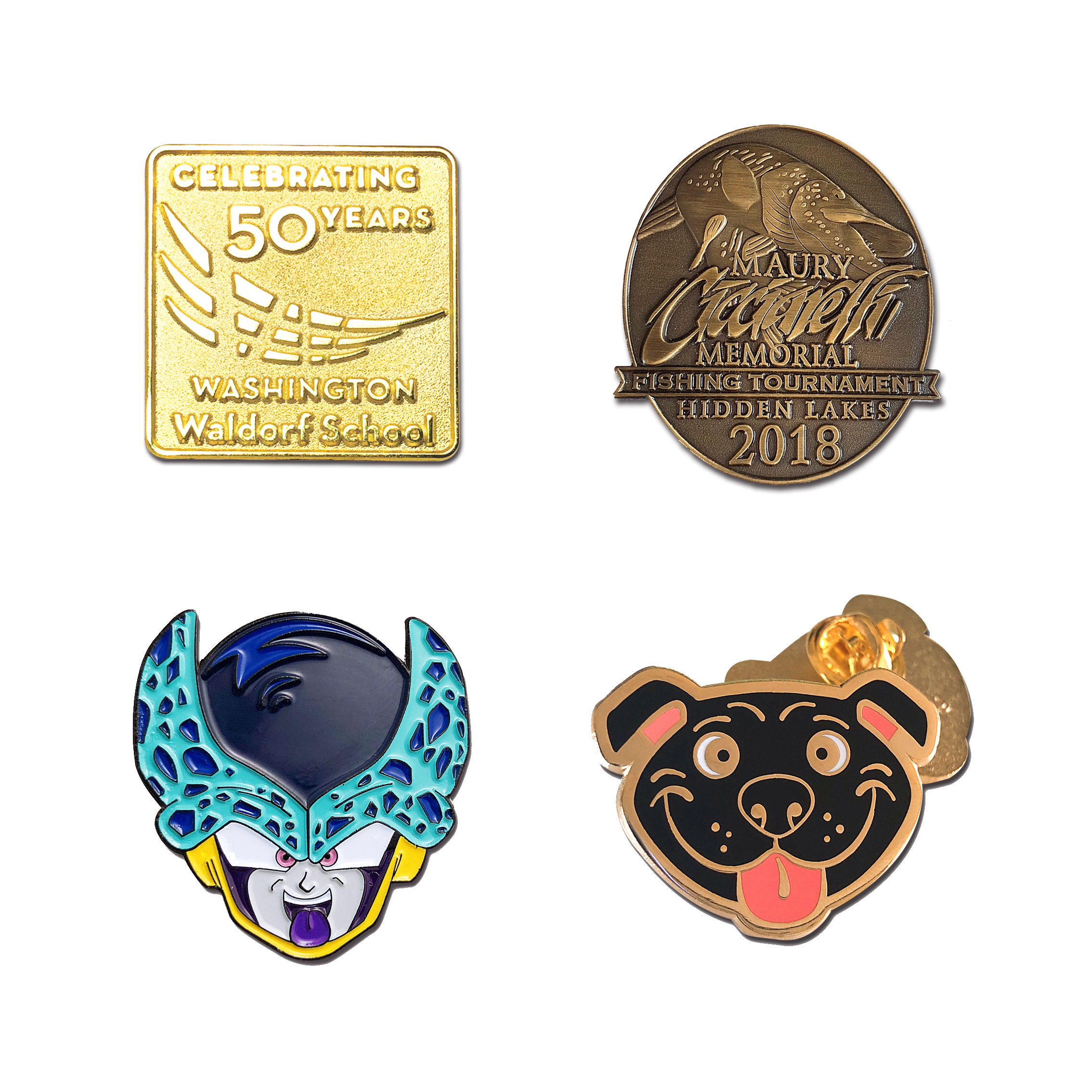 Custom High quality Pin and Badges soft hard enamel lapel pins manufacture China