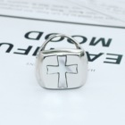 Sterling Silver 4 Color Ring S925 Sterling Silver Cross Shell Ring Wholesale