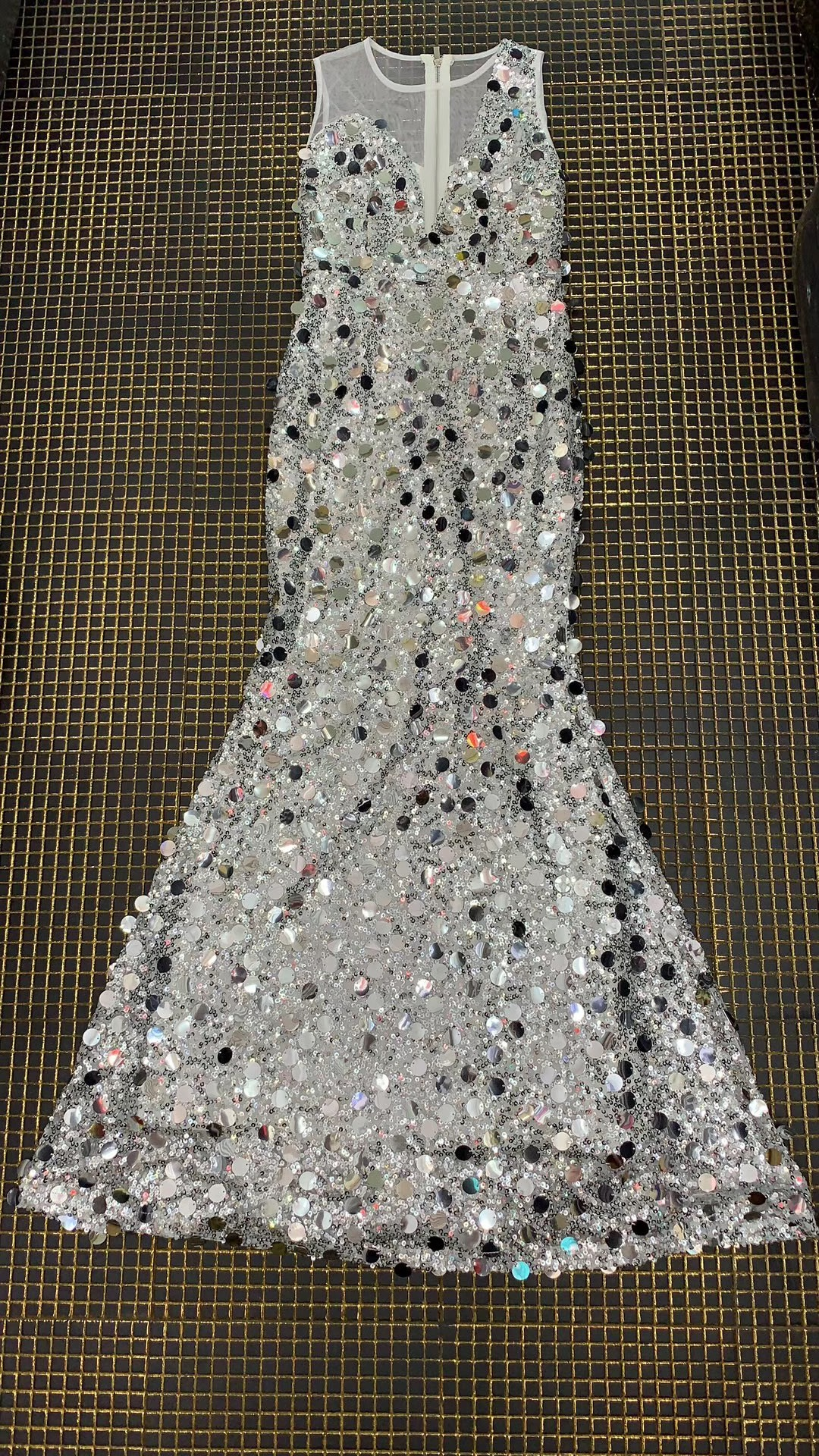 New Sexy Fashion Sequin Women Celebrity Evening Night Clubwear Long Party Dress