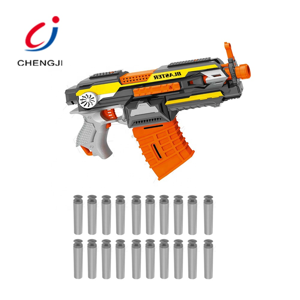 Super power children outdoor play electric bo 20pcs soft bullets blaster toy <strong>gun</strong>