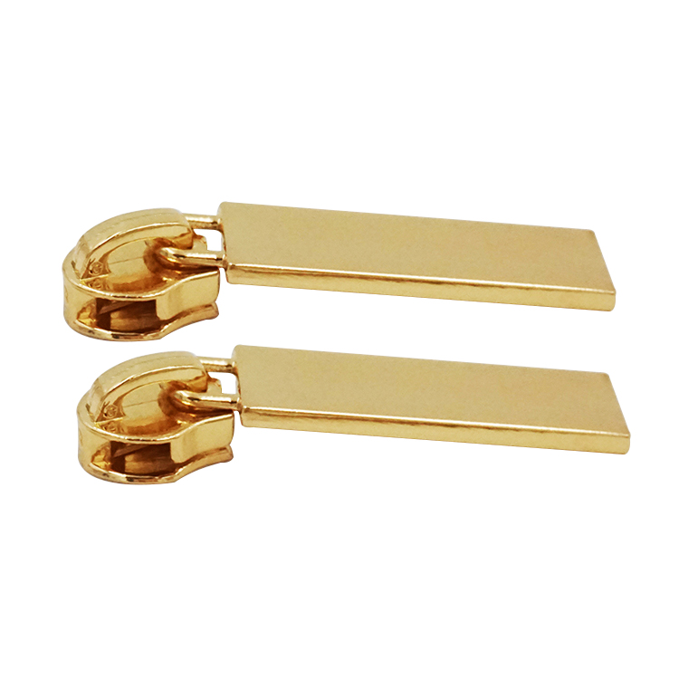Customized logo color size gold non lock zipper slider head puller zipper accessories