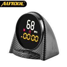 AUTOOL X70 GPS Head up Display Car Led Altitudine Bussola Tempo Digitale Sistema di Over-velocità di Allarme KMH PMH HUD