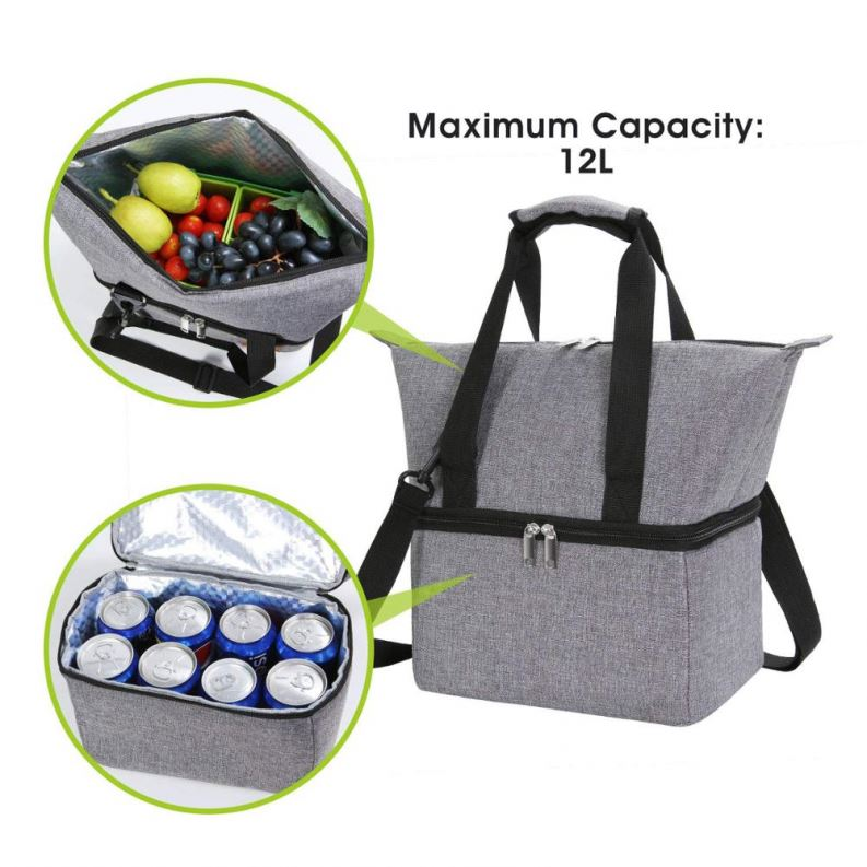 Osgoodway6 New Product Double Layer Waterproof Oxford Insulated Lunch Cooler Bag for Women