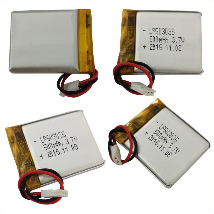 ポーチカスタム超薄型 3.7v 500 シティ 500mah リポバッテリー POS 機アクティブスピーカー