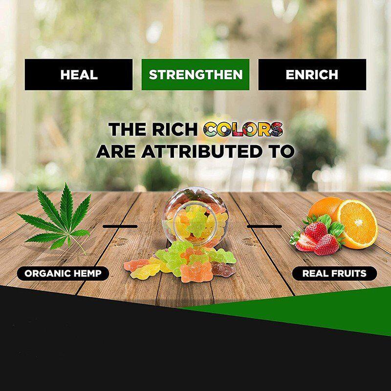 Hemp Gummy Bear - Stronger Power - Brain Focus - 60 counts - 35000mg herbal extract - OEM&ODM wholesale