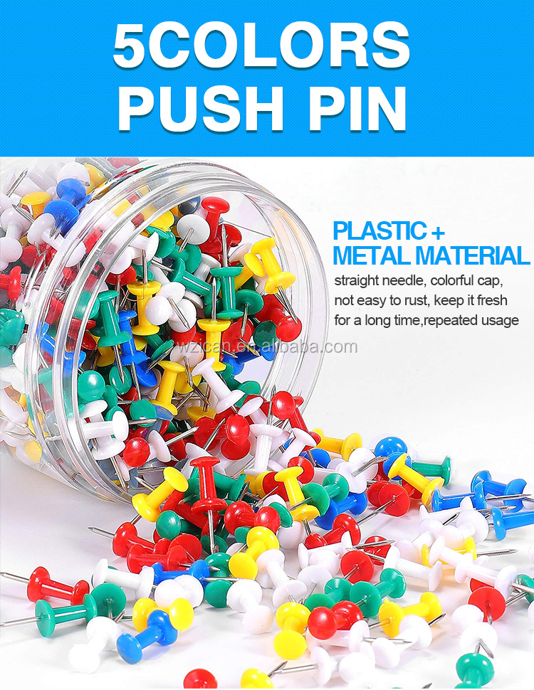 100pcs diy stationery kit colorful push pin with plastic ball metal pin
