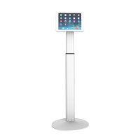 Universal anti-theft display tablet kiosk floor stand for 7-14inch tablet
