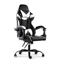 Haut Dossier <span class=keywords><strong>Noir</strong></span> Blanc PU Cuir <span class=keywords><strong>chaise</strong></span> <span class=keywords><strong>de</strong></span> <span class=keywords><strong>Jeu</strong></span> Inclinable