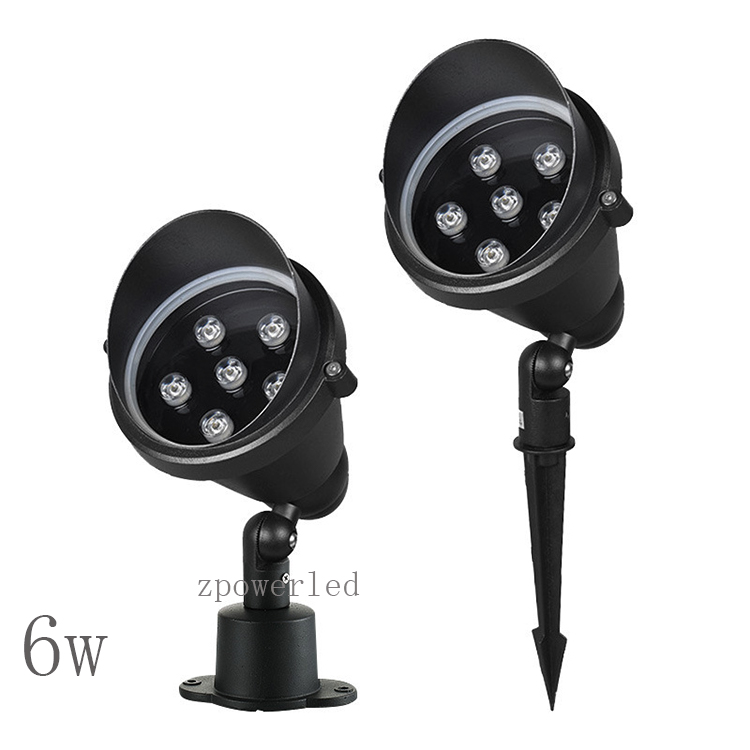 Aluminum outdoor IP65 waterproof <strong>220</strong> <strong>v</strong> 6w led spike garden spot light