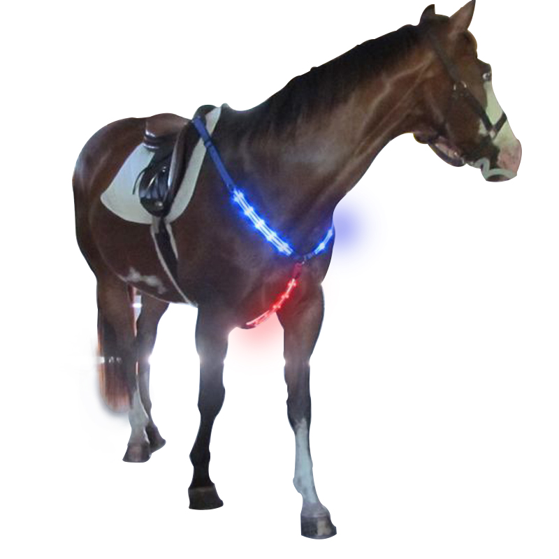 colorful hi-visibility led light up led equine breastplate for <strong>horse</strong>