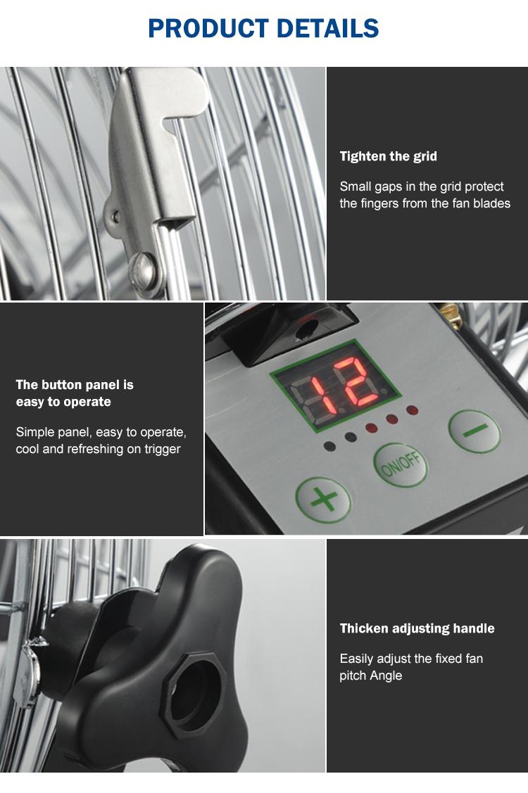 Yaz gümüş döküm alüminyum usb şarj uyku taşınabilir güneş elektrikli fan