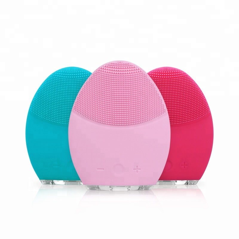 Beauty Products For women Approval Silicone Vibration Face cleansing Facial Massager Brush For all Kinds Skin