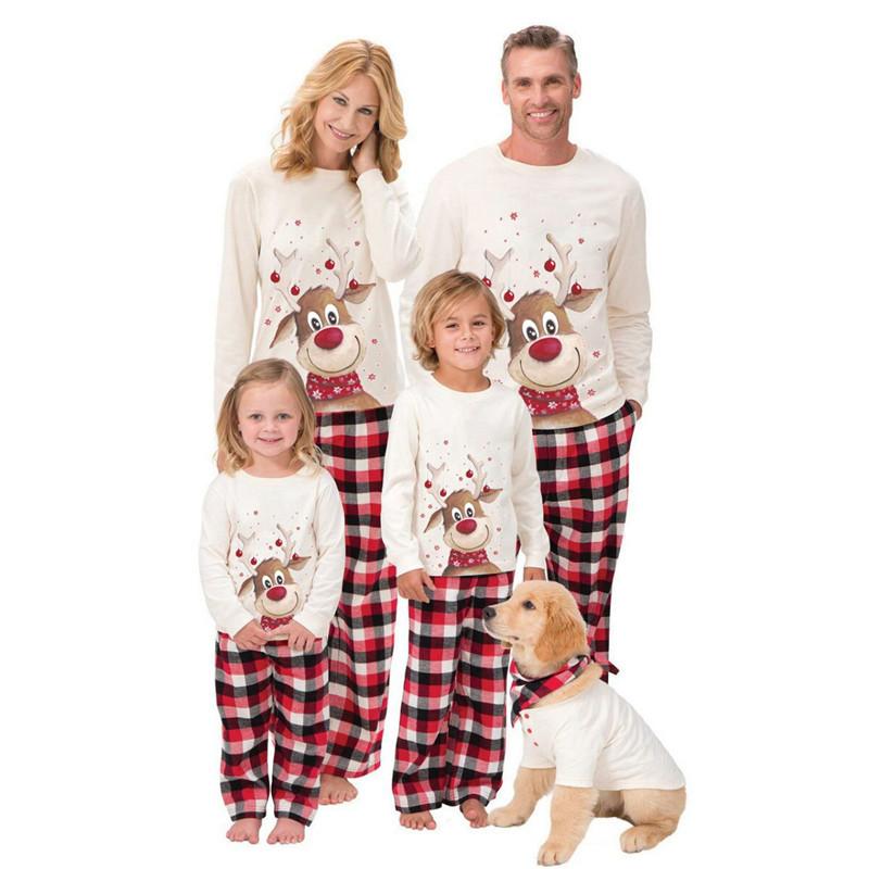 Großhandel 2021 gestreiften Weihnachten Halloween Pyjamas urlaub passenden familie weihnachten pyjamas Kinder Kinder Set Geschenk