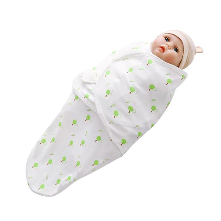 Saco de dormir infantil de algodón orgánico 100% personalizado, conjunto de Manta envolvente de muselina para bebé