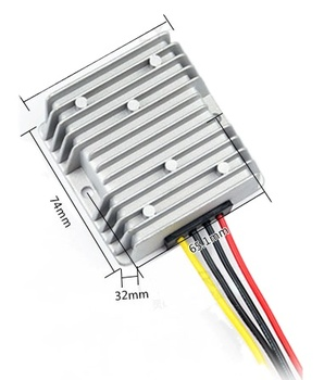 Professional authority 12v to 13.8v DC converter 12A dc boost dc transformer 166w for motor