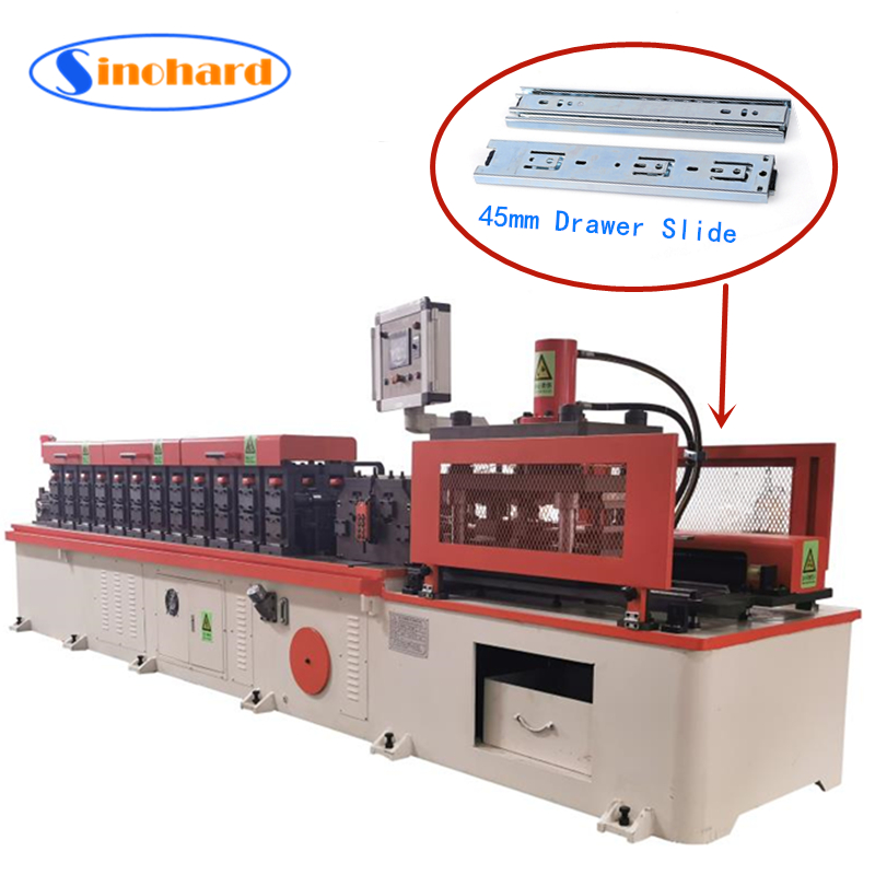 45mm Telescopic Channel Full Automatic Roll Forming Machine for drawer slide