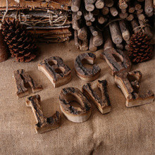 vintage clothing store cafe DIY wooden English letters wood number soft decorations
