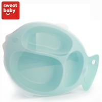 FDA Certificate BPA Free Baby Food Plate Toddler Kid Child Divided Eating Dinnerware Set