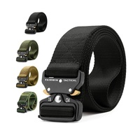 Free sample custom nylon outdoor molle webbing waist duty belt man police camouflage army military tactical belt