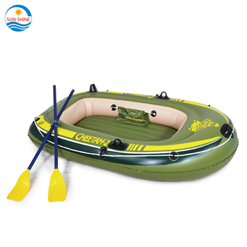 North Pak Factory cheap price customized  plastic PVC 2 persons fishing inflatable rowing boat