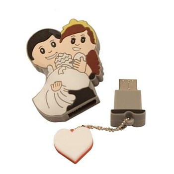 Customized Wedding Gifts Pvc Usb Flash Drive Bride Groom