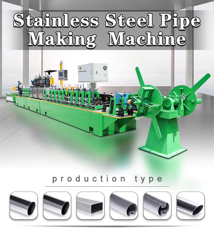 Boru KAYNAK MAKINESİ Yuvarlak Paslanmaz çelik boru Yapma Makinesi