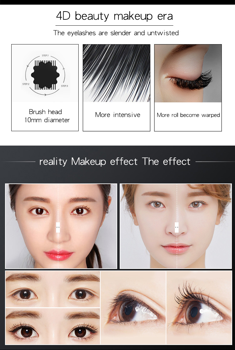 Sản Phẩm Đang Bán Tốt Nhất Bán Buôn Trang Điểm Mascara Lông Mi Lâu Dài 4D Lụa Lông Mi Làm Từ Sợi Tổng Hợp Mascara