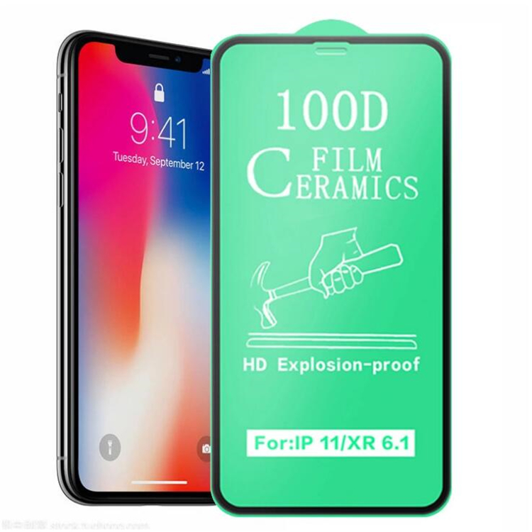 2020 Hot Selling 100D Screen protector For iPhone XS MAX clear glass For iPhone 11 12 pro max full glue <strong>Ceramic</strong> tempered glass