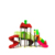 New outdoor playground equipment plastic slide kid play slide