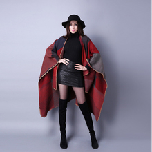 Groothandel Lady poncho sjaal Vrouwen <span class=keywords><strong>Winter</strong></span> mode hoge kwaliteit poncho <span class=keywords><strong>cape</strong></span>