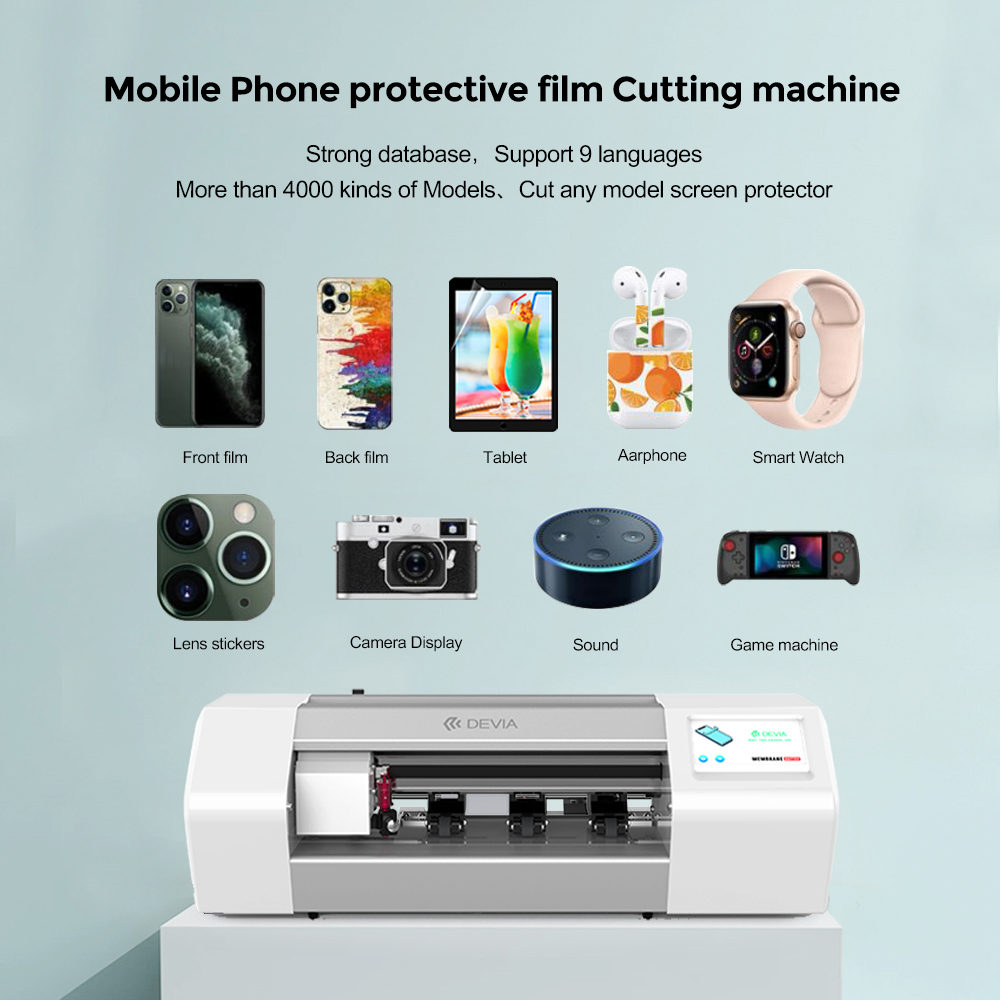 Devia Hot Selling 50pcs/box 4000+ Models Mobile Phone Sticker Screen Protector Die Cutting Machine
