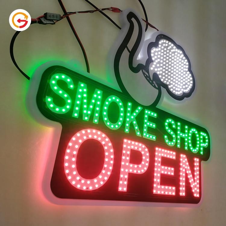 JAGUARSIGN Manufacturer Custom Double Side Smoke Shop Led Signs Tobacco Vape Store Wall Sign Led Light Outdoor ATM Led Sign