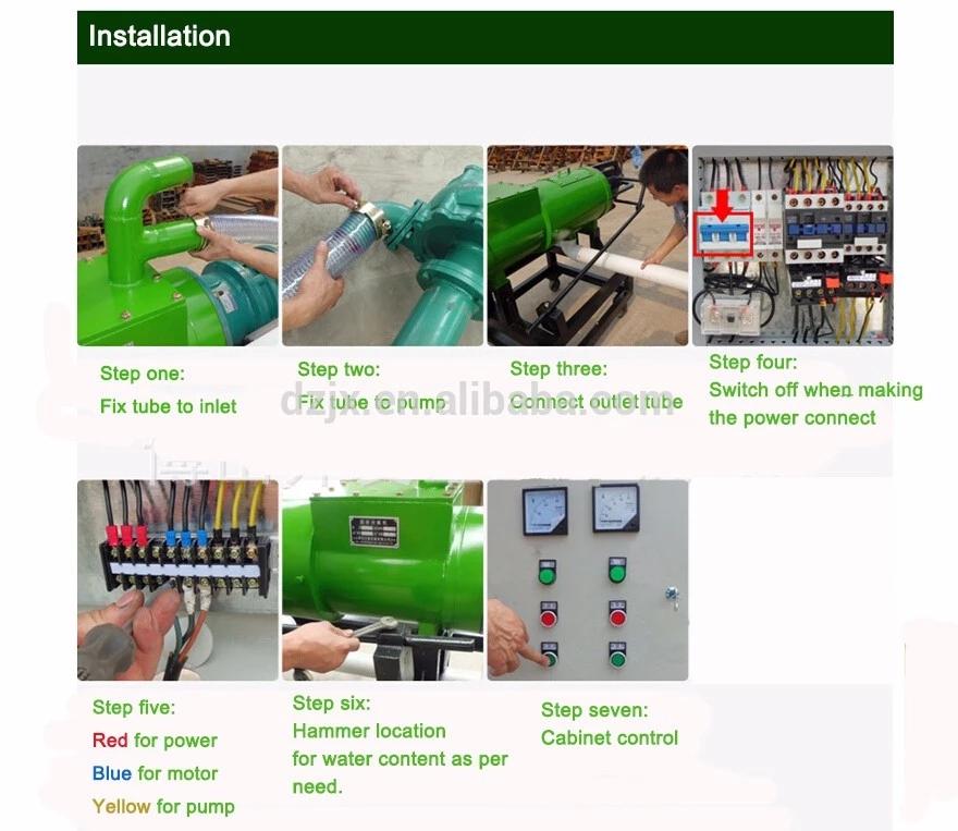 Dung dörr/huhn dung entwässerung seperator/schraube drücken feste flüssigkeit separator/organische dünger, der maschine