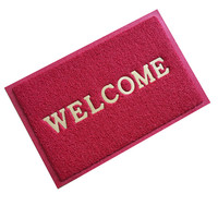 High strength pvc coil door mat with welcome letters