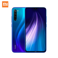 Global Xiaomi Redmi Note 8 Mobile Phone 4+64GB 48MP AI Four Camera 18W Fast Charge Snapdragon 665 6.3Inch Redmi Note 8