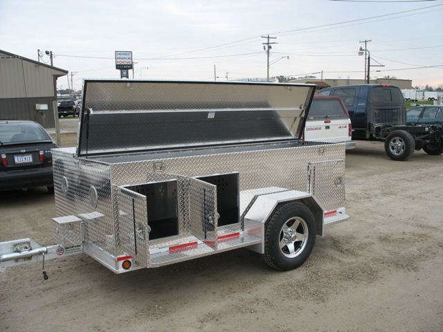 Fashion hunting dog trailer box pull behind truck  aluminum material for sale