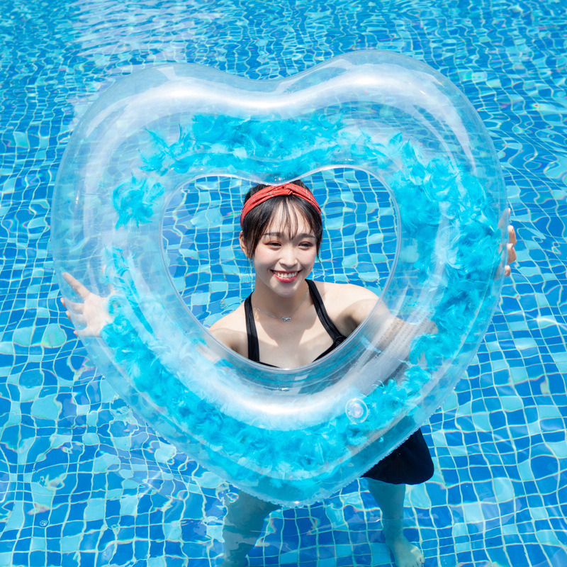 Pvc Feather Swim Ring Inflatable Swimming Ring