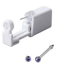 2 единицы одноразовый безопасный стерильный прибор для пирсинга носа пирсинг 316L нержавеющая сталь машина комплект серьги шпильки тела ювел...(China)